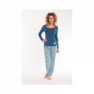 Royal Dutch pyjama petrol/blauw